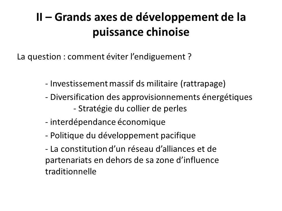 II – Grands axes de développement de la puissance chinoise
