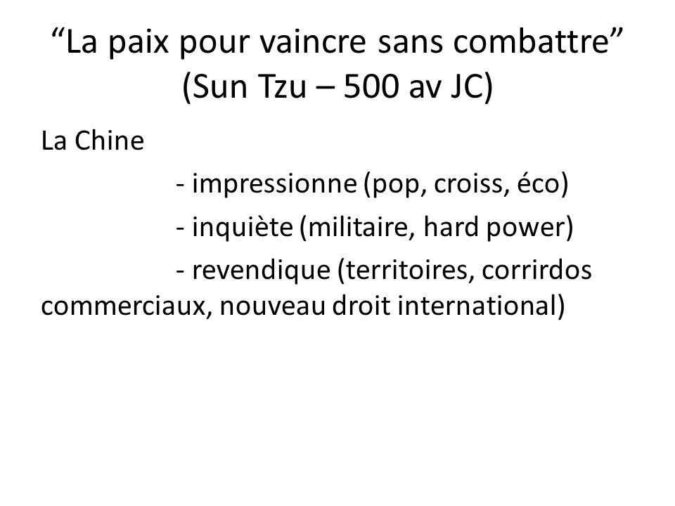 La paix pour vaincre sans combattre (Sun Tzu – 500 av JC)