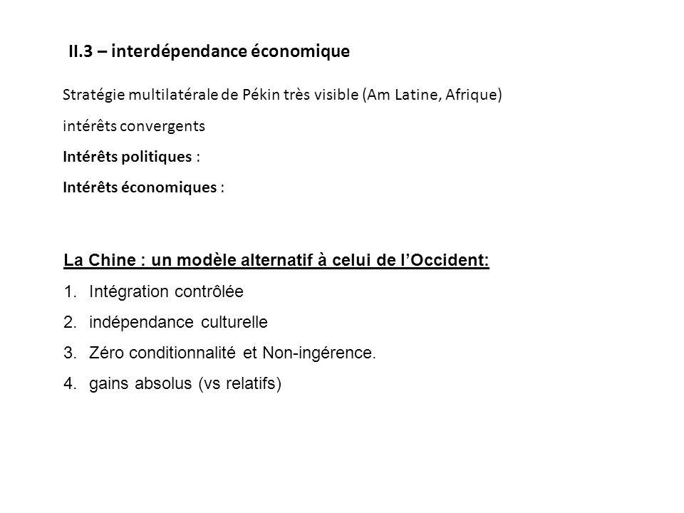 II.3 – interdépendance économique