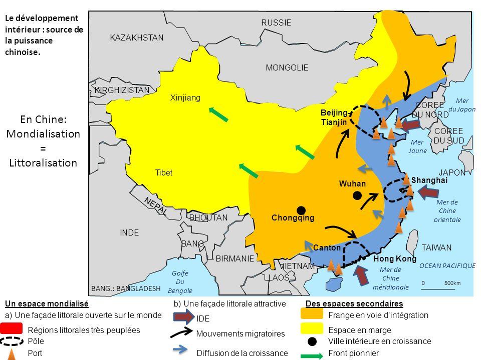 En Chine: Mondialisation = Littoralisation
