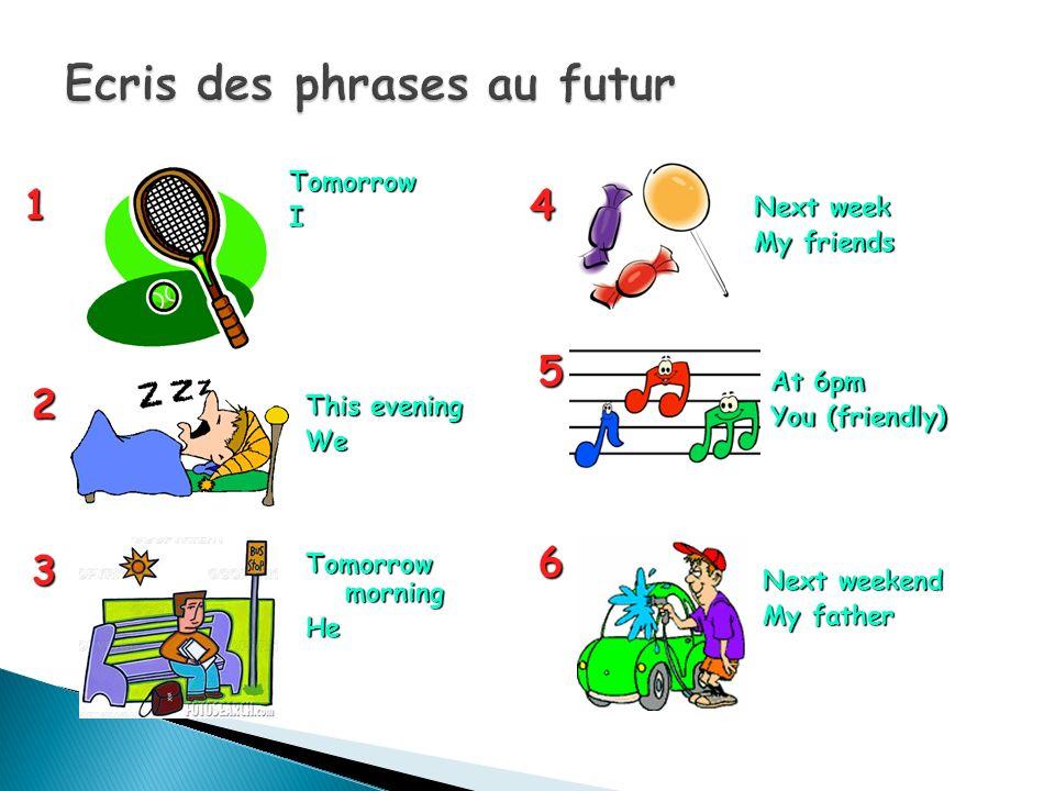 Ecris des phrases au futur