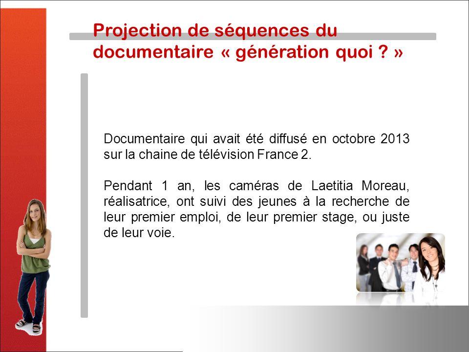 Projection de séquences du documentaire « génération quoi »