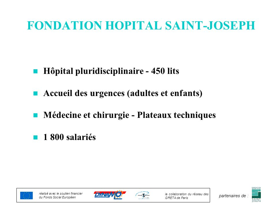 FONDATION HOPITAL SAINT-JOSEPH