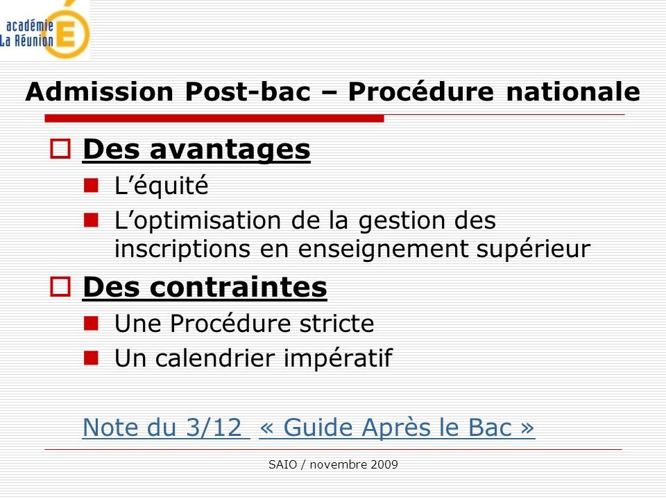 Admission Post-bac – Procédure nationale