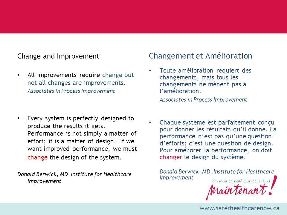 Changement et Amélioration