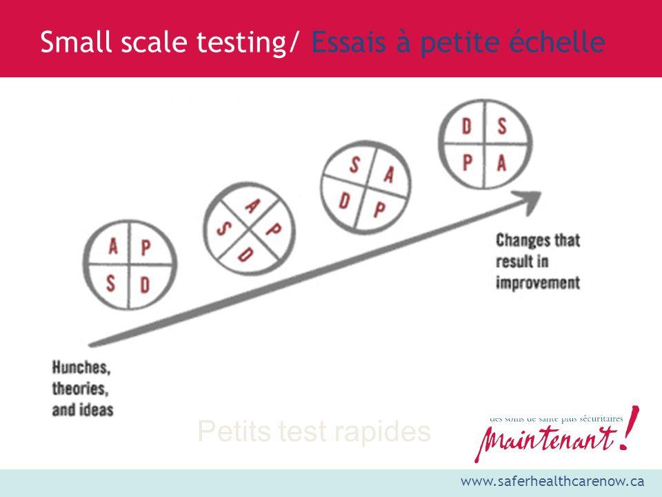 Small scale testing/ Essais à petite échelle