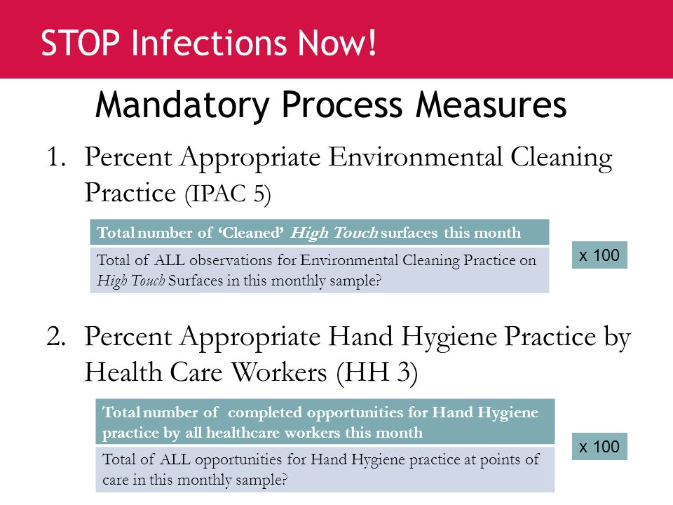 Mandatory Process Measures