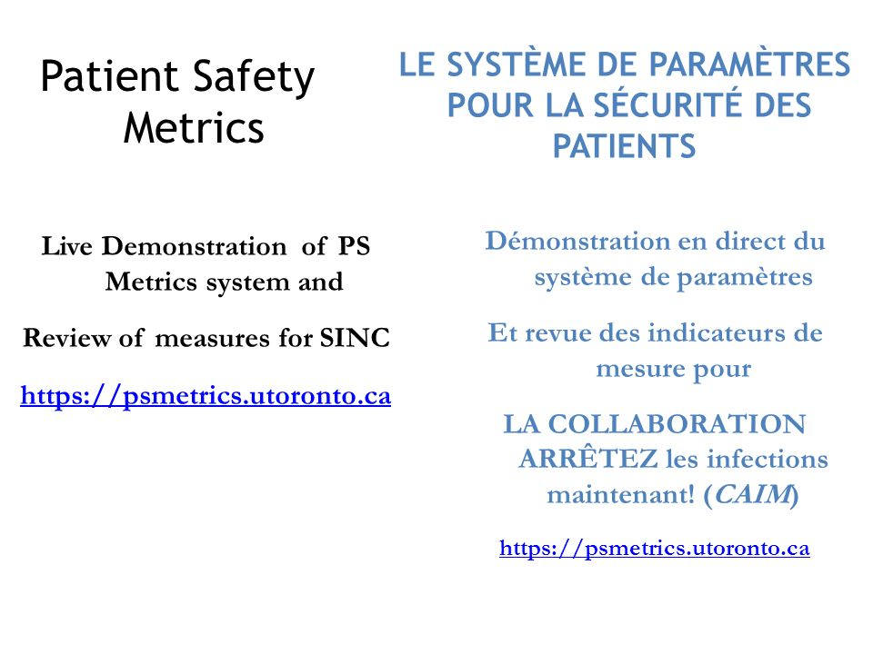 Patient Safety Metrics