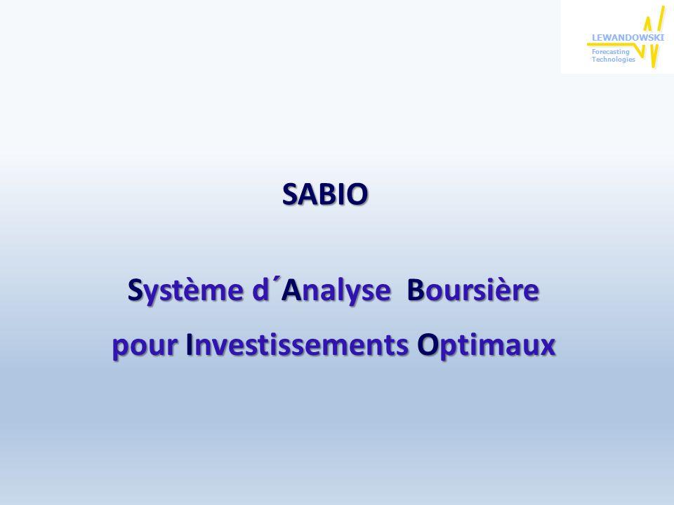 Système d´Analyse Boursière pour Investissements Optimaux