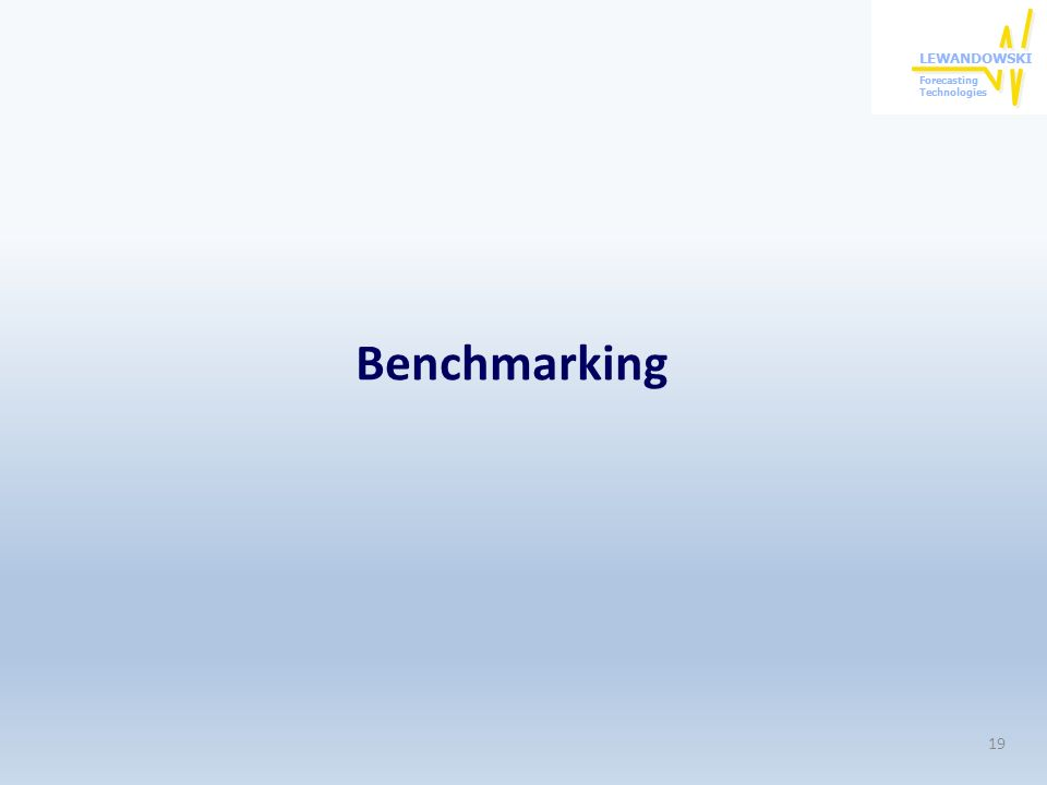 Benchmarking 19