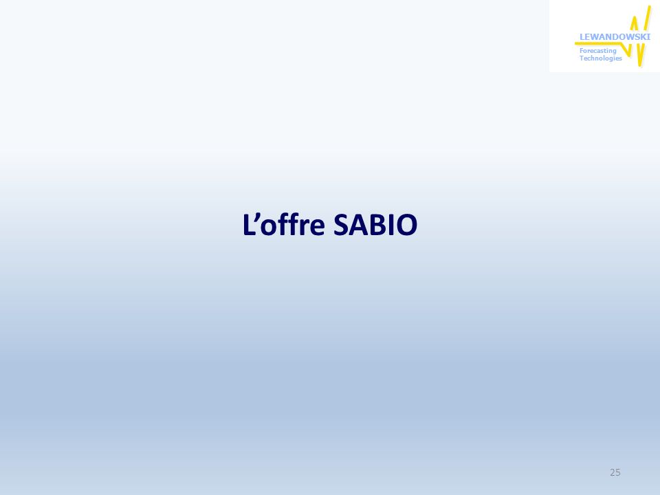 L'offre SABIO