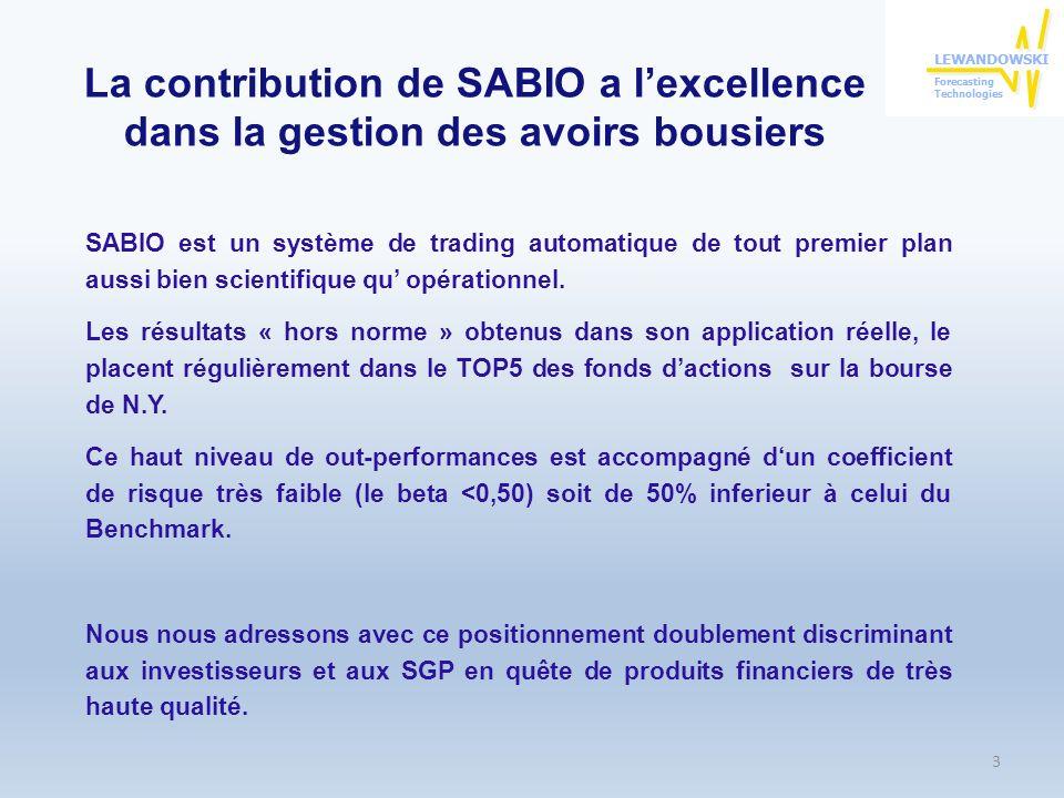 La contribution de SABIO a l'excellence dans la gestion des avoirs bousiers