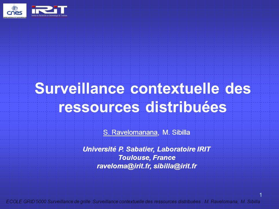 Surveillance contextuelle des ressources distribuées