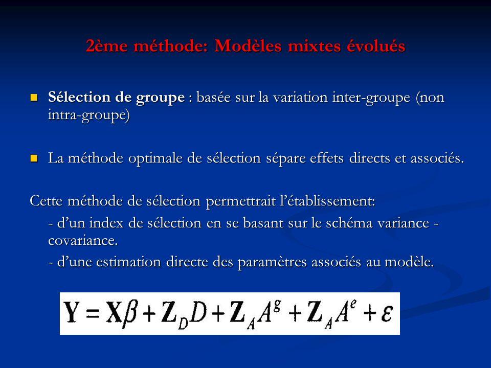 2ème méthode: Modèles mixtes évolués