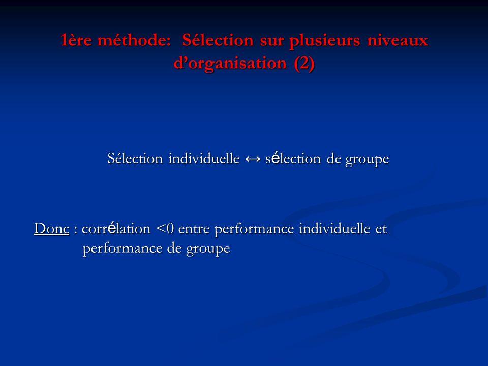 1ère méthode: Sélection sur plusieurs niveaux d'organisation (2)