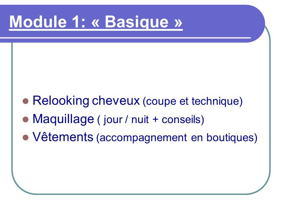 Module 1: « Basique » Relooking cheveux (coupe et technique)