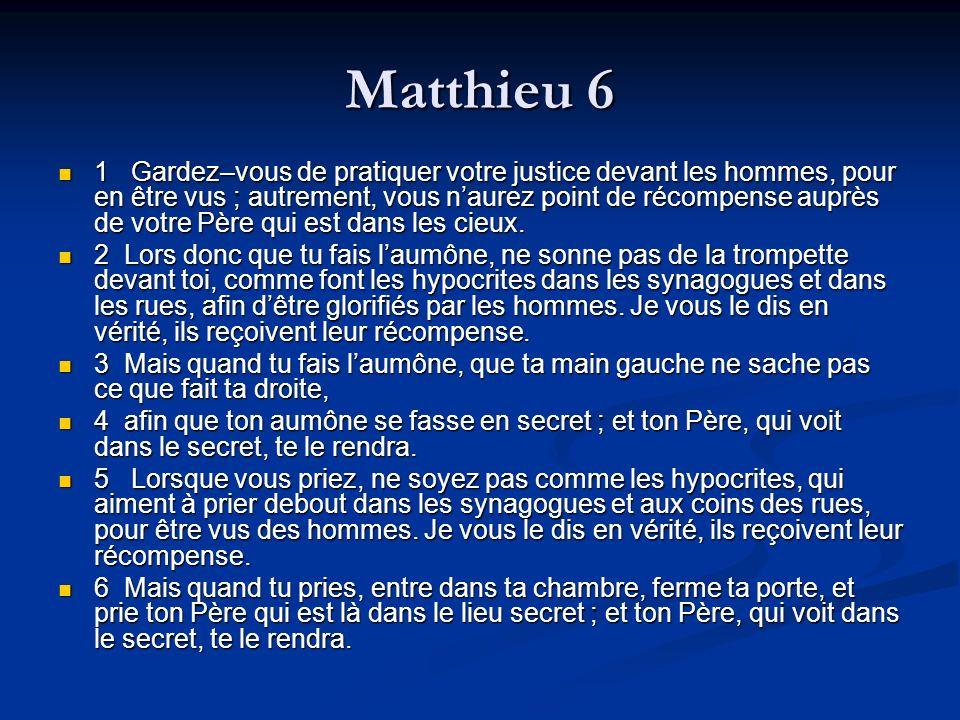 Matthieu 6