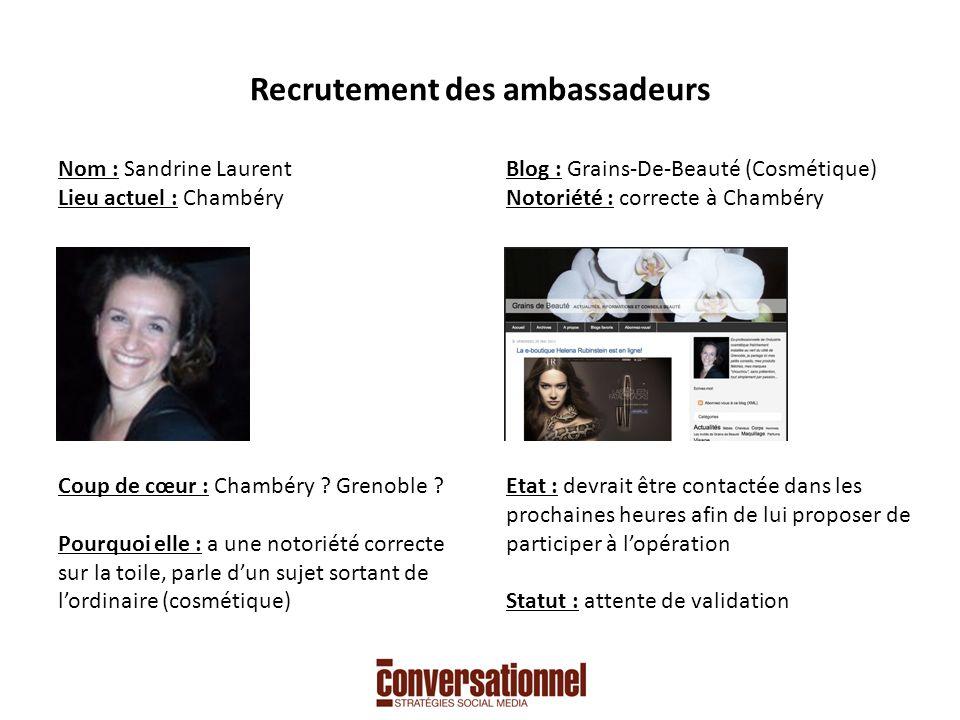Recrutement des ambassadeurs