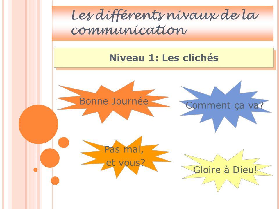 Les différents nivaux de la communication