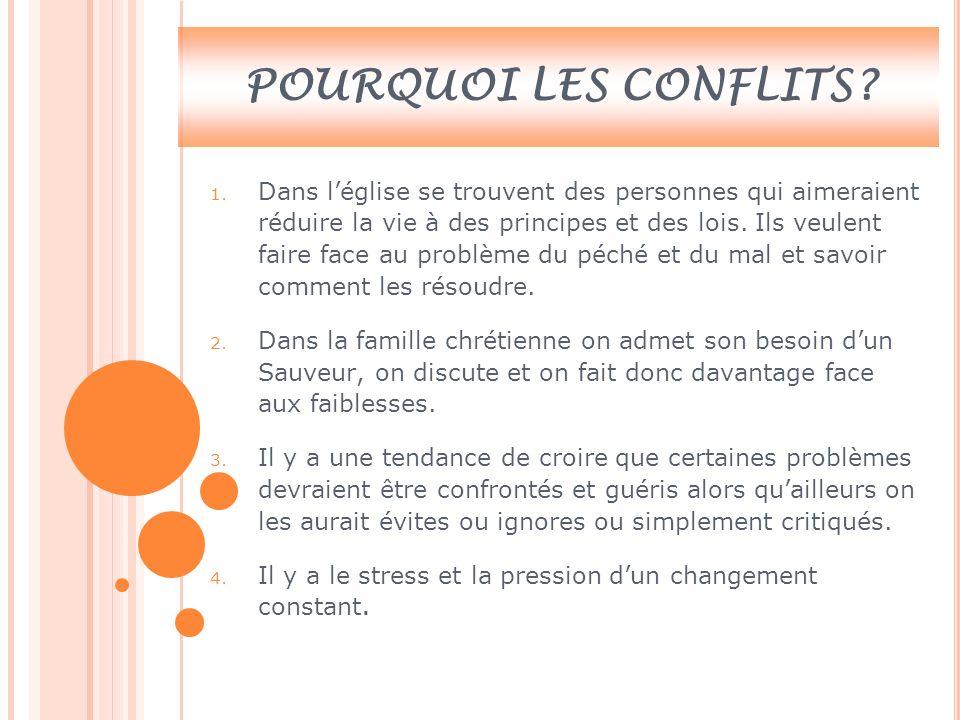 POURQUOI LES CONFLITS