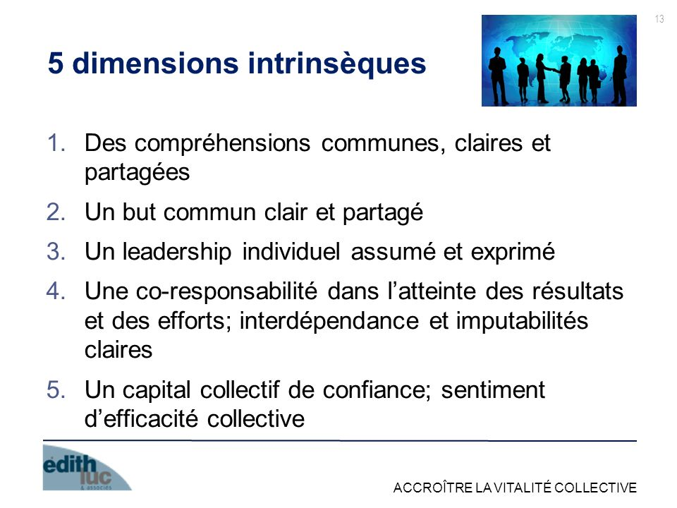 5 dimensions intrinsèques