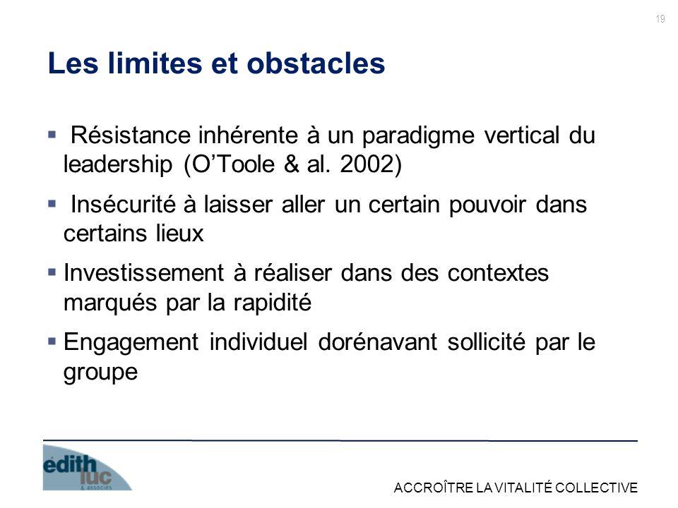 Les limites et obstacles