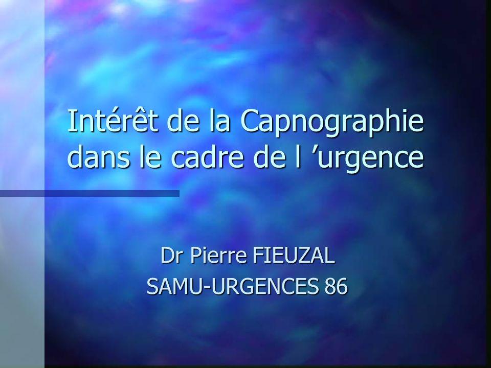 Intérêt de la Capnographie dans le cadre de l 'urgence