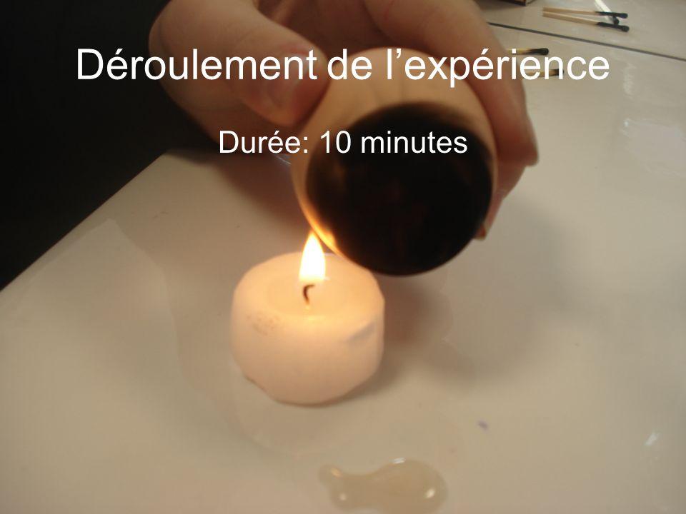 Déroulement de l'expérience