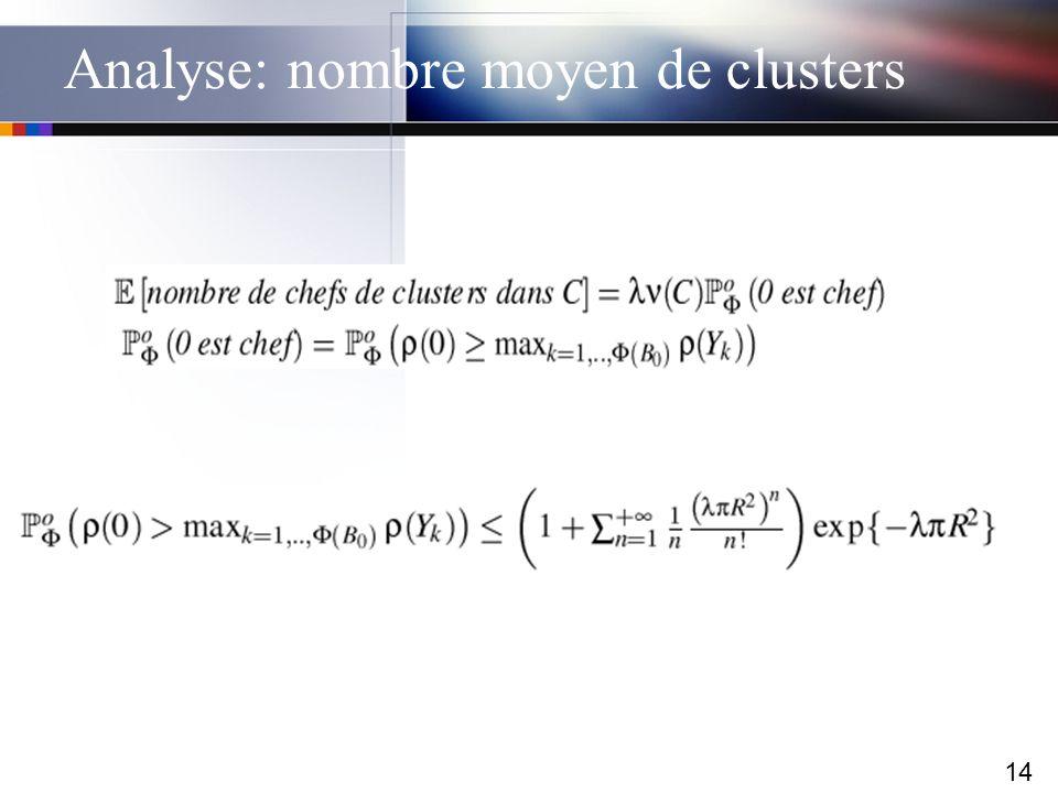 Analyse: nombre moyen de clusters