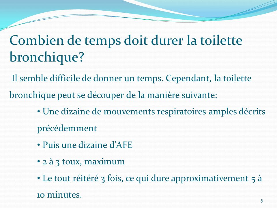 La toilette bronchique ppt video online t l charger - Combien de temps dure le coup de foudre ...