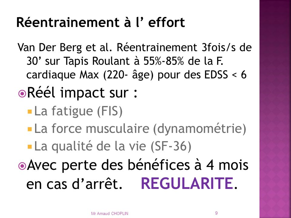 Réentrainement à l' effort