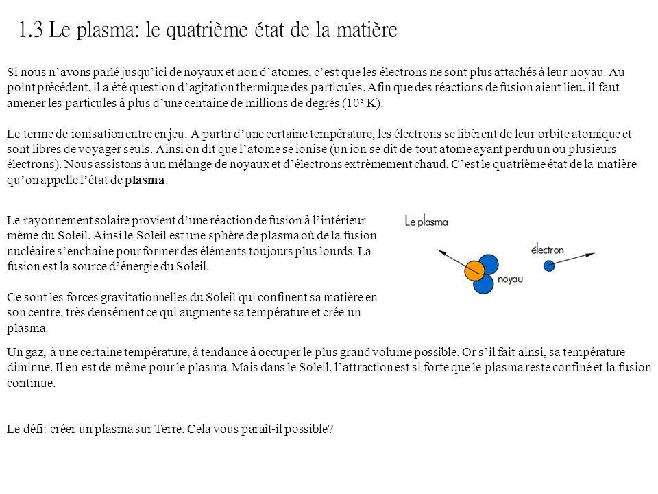 1.3 Le plasma: le quatrième état de la matière