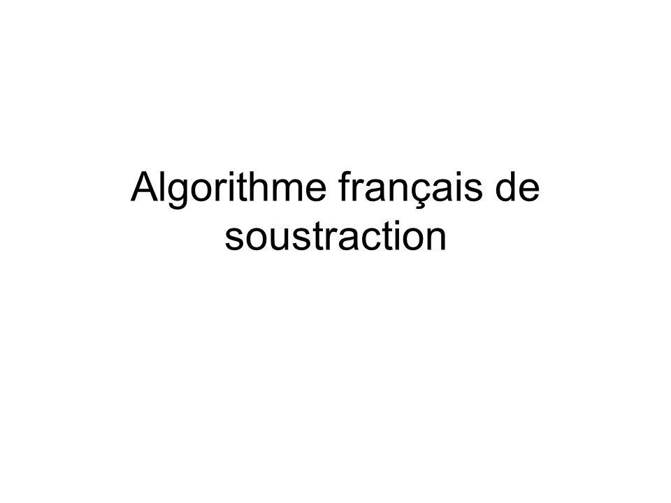 Algorithme français de soustraction