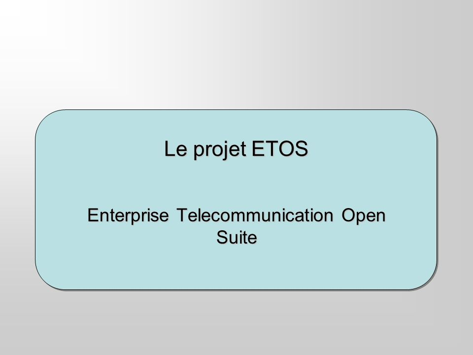 Enterprise Telecommunication Open Suite