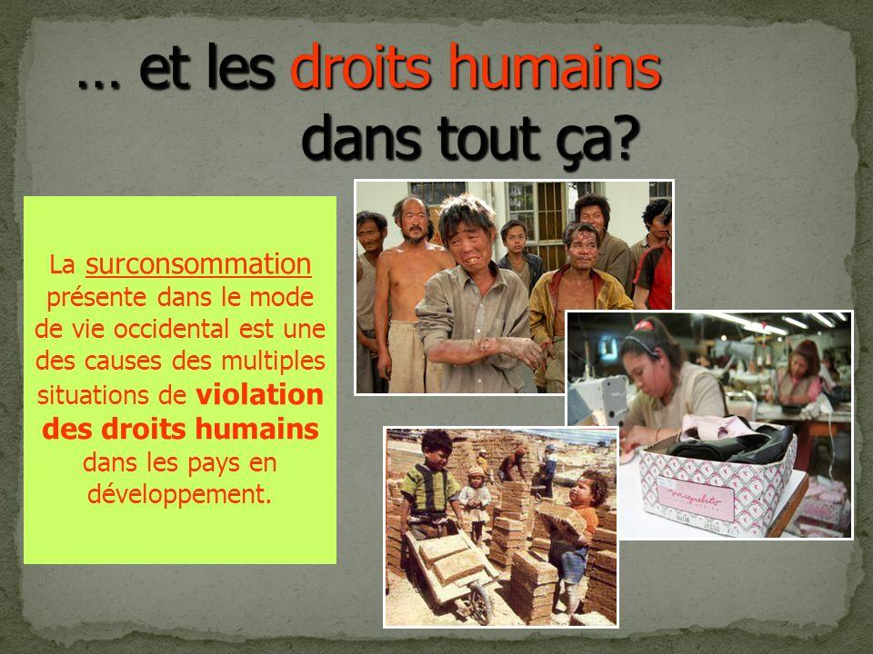 … et les droits humains dans tout ça