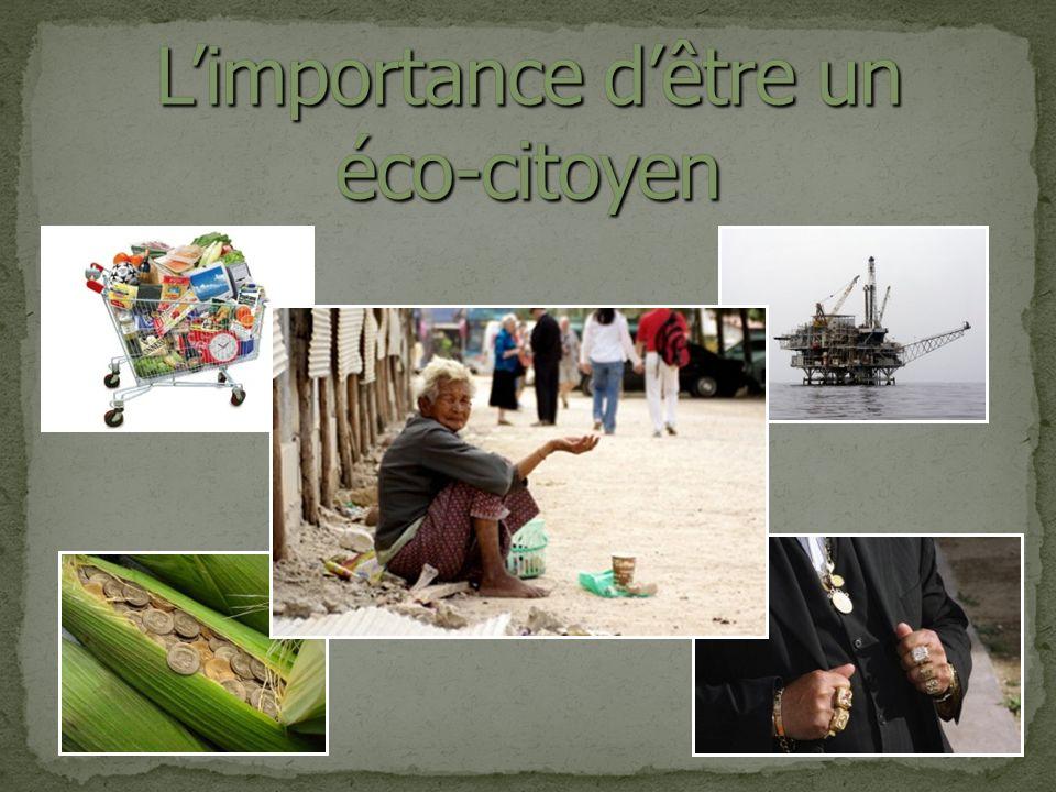 L'importance d'être un éco-citoyen