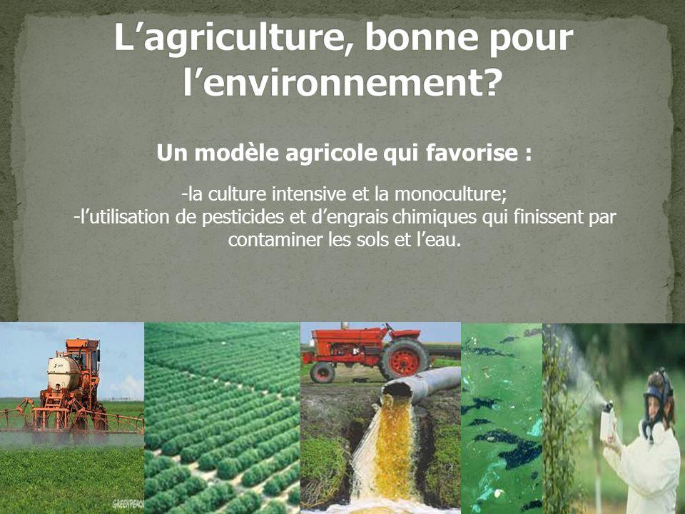 L'agriculture, bonne pour l'environnement