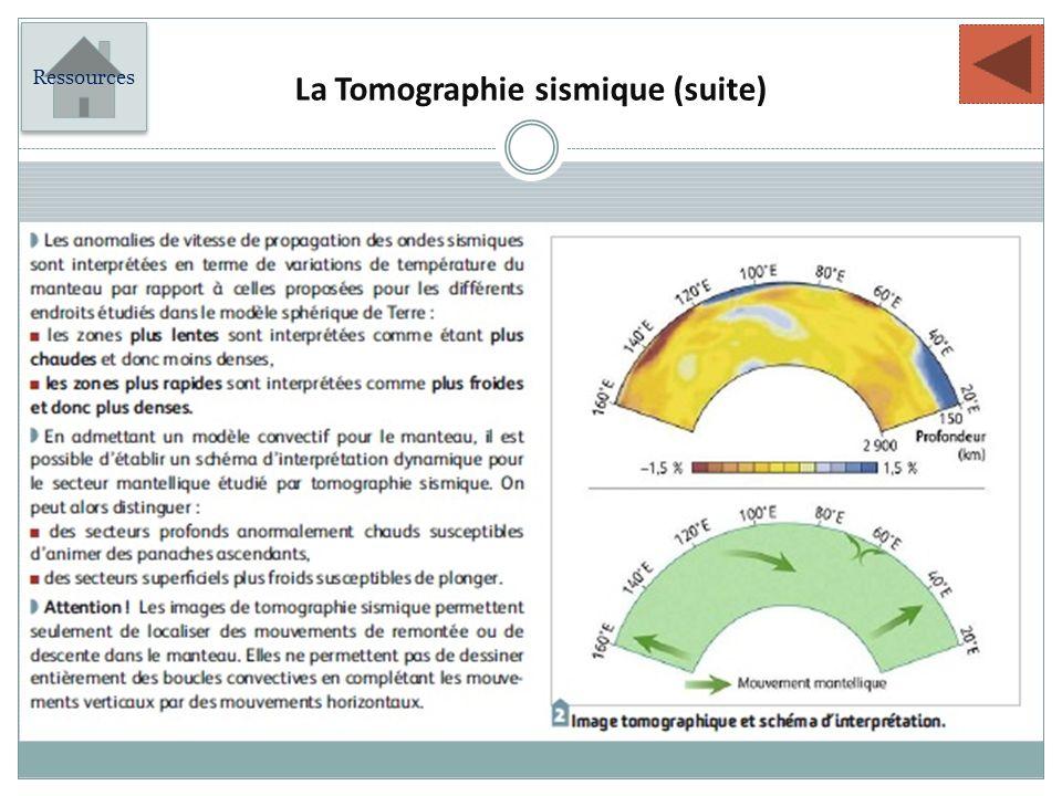 La Tomographie sismique (suite)