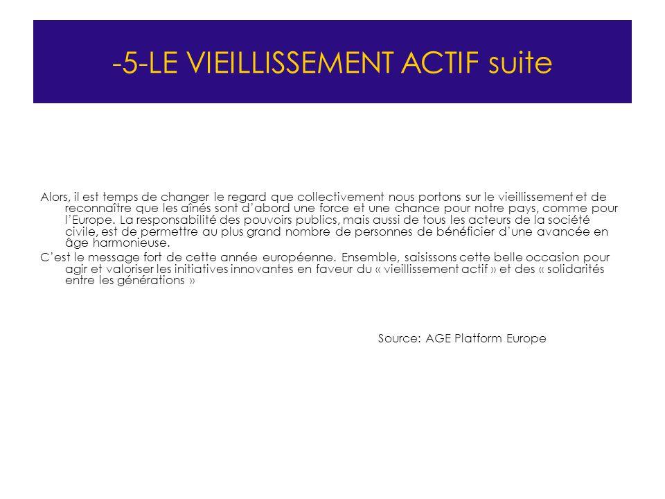 -5-LE VIEILLISSEMENT ACTIF suite