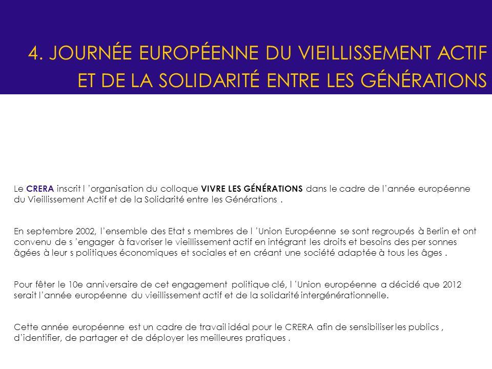 4. JOURNÉE EUROPÉENNE DU VIEILLISSEMENT ACTIF