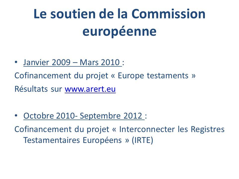 Le soutien de la Commission européenne