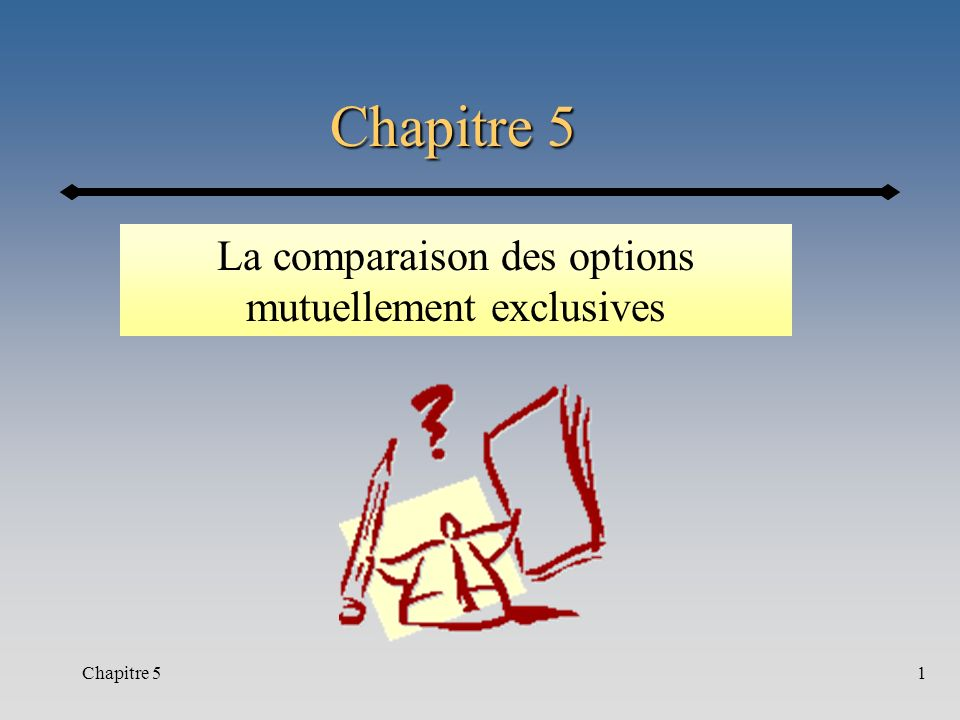 La comparaison des options mutuellement exclusives