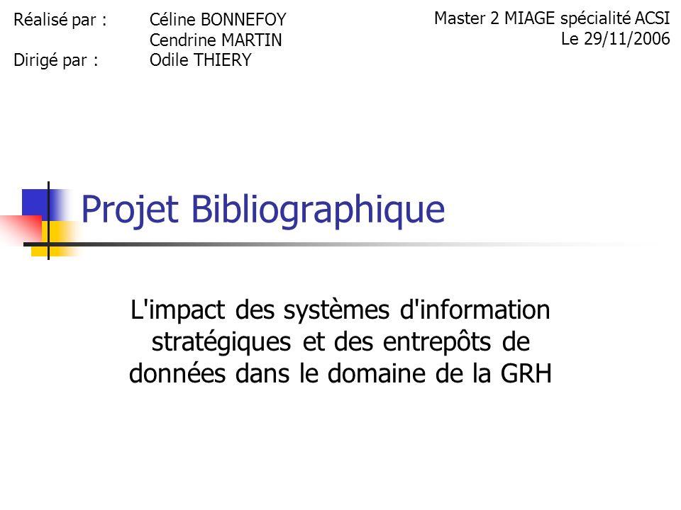 Projet Bibliographique
