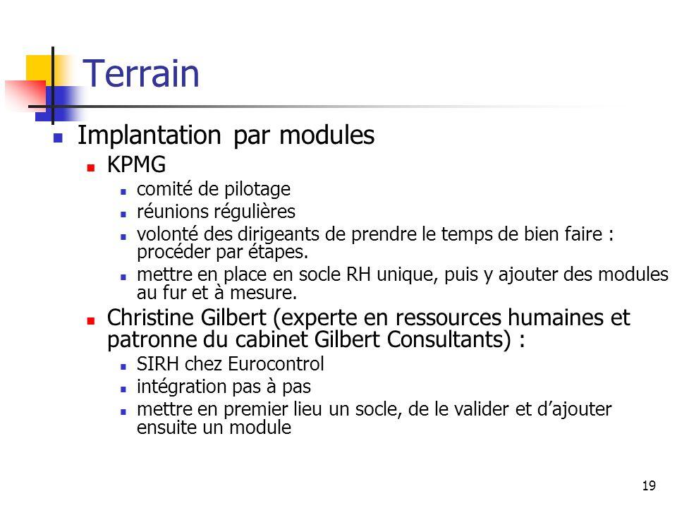 Terrain Implantation par modules KPMG
