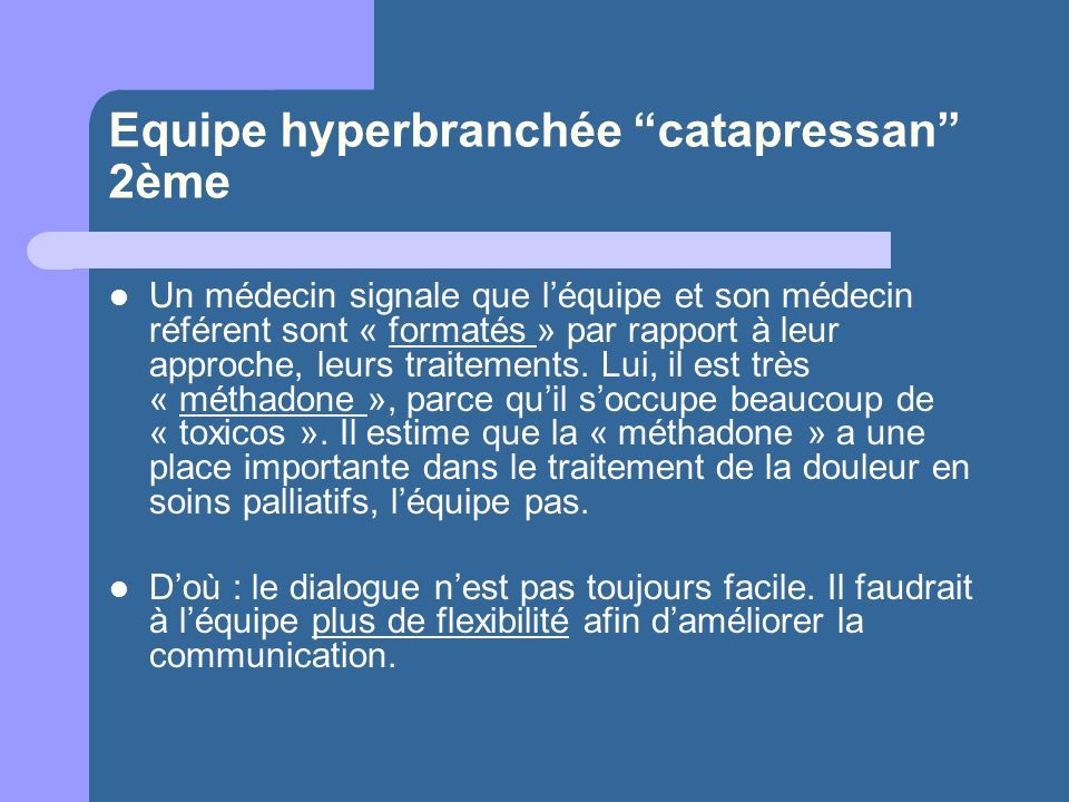 Equipe hyperbranchée catapressan 2ème