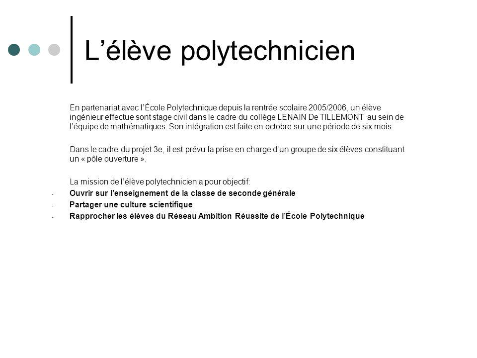 L'élève polytechnicien
