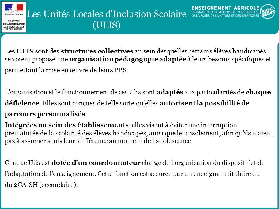 Les Unités Locales d Inclusion Scolaire (ULIS)