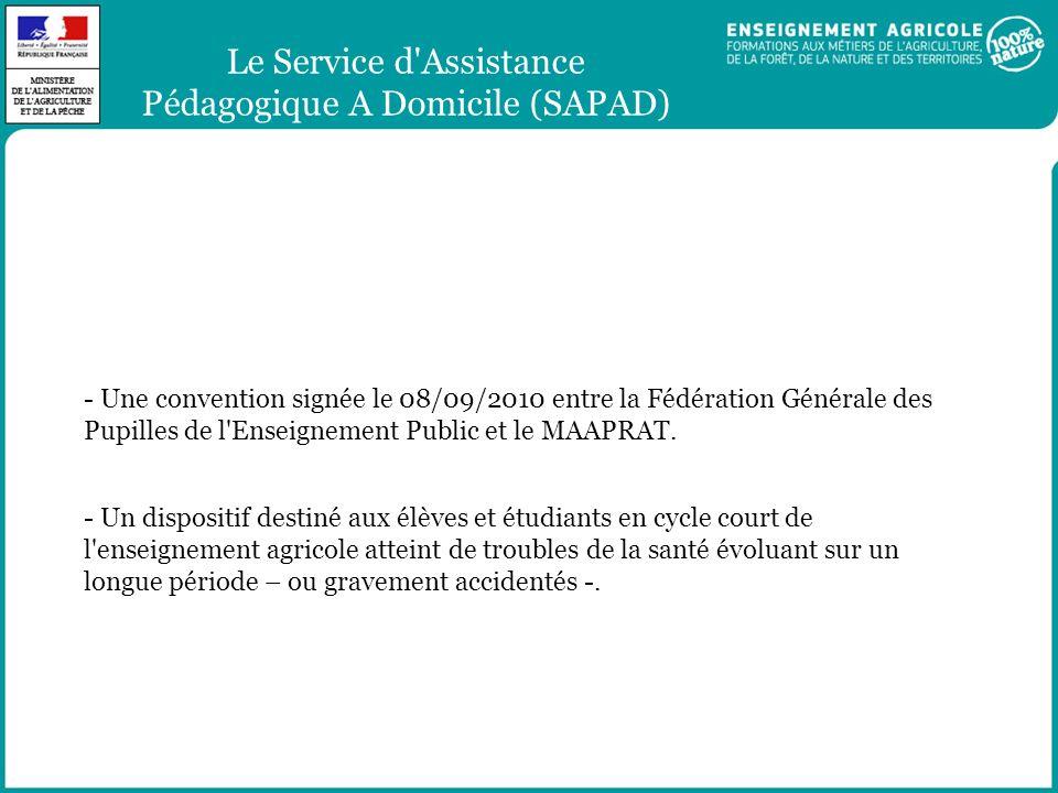 Le Service d Assistance Pédagogique A Domicile (SAPAD)