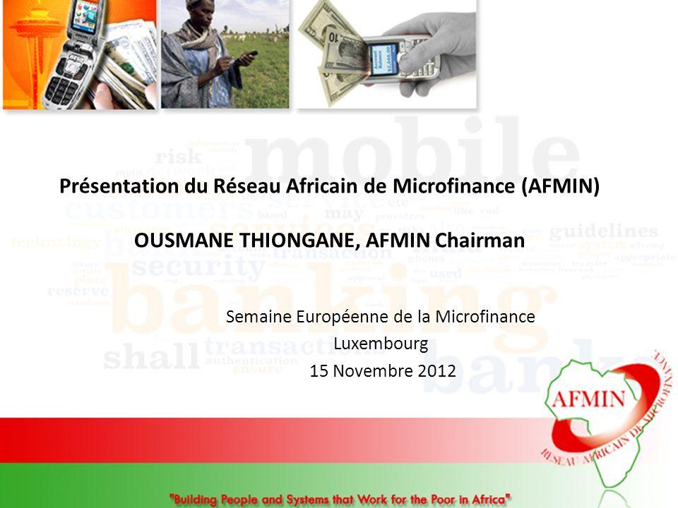Semaine Européenne de la Microfinance Luxembourg 15 Novembre 2012