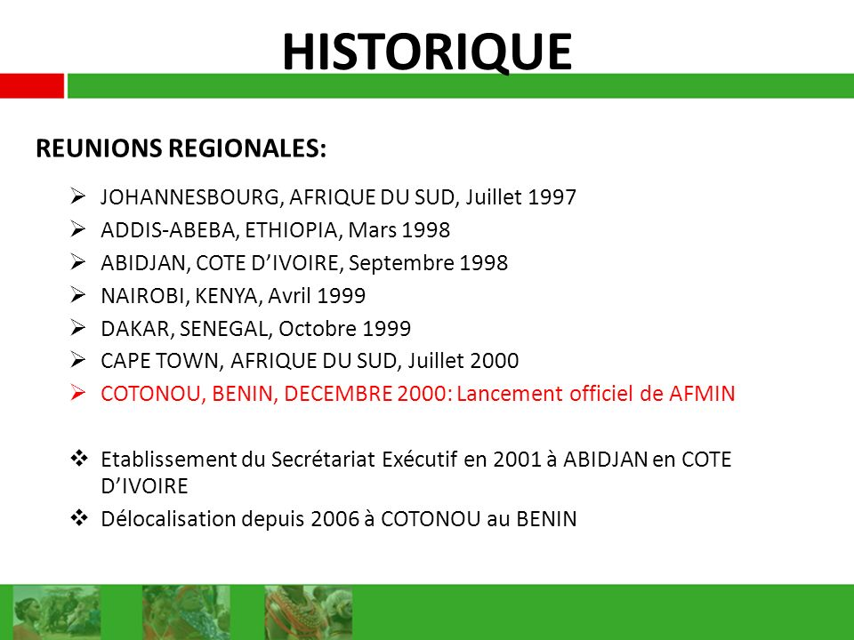 HISTORIQUE REUNIONS REGIONALES: